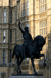 Statue of King Richard I. At Houses of Parliament Royalty Free Stock Photography