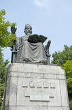 Statue of king sejong in seoul, korea Stock Photo