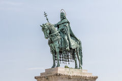 Statue of King St. Stephen in Budpaest Hungary Stock Images