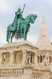 Statue of King Stephen I of Hungary stock photo