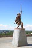 Statue of king Svatopluk. BRATISLAVA, SLOVAKIA - JUNE 26, 2014: Statue of king Svatopluk near Bratislava castle stock photography