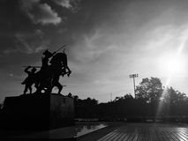 Statue. King Taksin Royalty Free Stock Photography