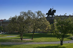Statue of king Tomislav stock photos