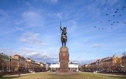 Statue of King Tomislav in Zagreb, Croatia Royalty Free Stock Image