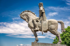 Statue of king. Vakhtang Gorgasali in Tbilisi, Georgia stock photos