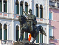 Statue of King Victor Emmanuel II in Venice, Italy. Royalty Free Stock Photos