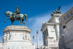 Statue of king Vittorio Emanuele Royalty Free Stock Image
