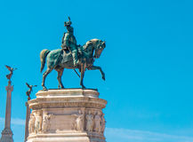 Statue of king Vittorio Emanuele in Rome Stock Photography