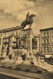 Statue of King Wladyslaw Jagiello in Krakow Stock Photo