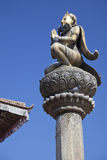 Statue of King Yoganarendra Malla, Nepal Royalty Free Stock Image