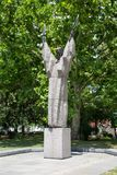 Statue of Kliment Ohridski in Sofia, Bulgaria Royalty Free Stock Images
