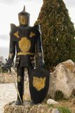 Statue of a knight in armor. For decoration Stock Photography