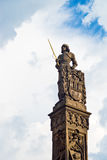 Statue of Knight Brunswick in Prague Stock Images