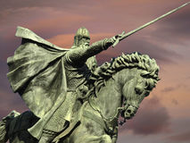 Statue of the knight Cid in Burgos Royalty Free Stock Photos