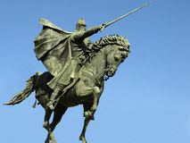 Statue of the knight Cid in Burgos Stock Image