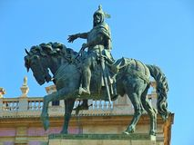A statue of a knight on his horse. In a park in Valencia Spain Stock Photos