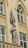 Statue of a knight on a house in Lvov Stock Images