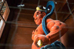 Statue of kongourikishi - the guardian god Royalty Free Stock Image