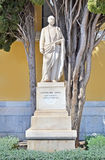 The statue of Konstantinos Zappas outside of the Zappeion Megaron Hall of Athens Greece Stock Photos