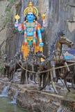 Statue of Krishna nearly Batu caves Stock Photography