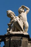 Statue on Kronentor in Dresden. (Germany royalty free stock image