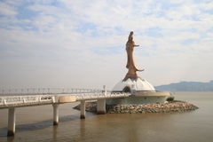 Statue of Kun Iam in Macau Stock Images