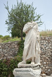 A statue on Kuretes Street in Ephesus, Turkey Stock Image