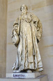 Statue of L'Hopital at Versailles, France Royalty Free Stock Image