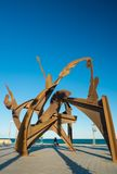 Statue at La Barceloneta beach district, on March 15, 2013 in Barcelona, Spain Royalty Free Stock Photo
