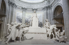 Statue of La Convention Nationale inside the Pantheon of Paris Stock Photography
