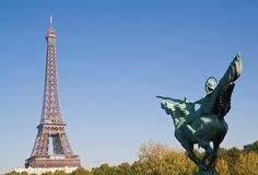 Statue of La France Renaissante, Paris Stock Photos