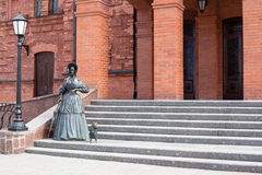 Statue of lady with dog Royalty Free Stock Image
