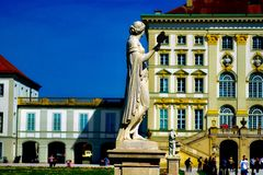 The statue of lady guard royalty free stock photos
