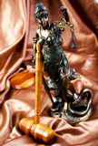 Statue of lady justice. Law and justice concept in studio royalty free stock photos