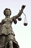 Statue of Lady Justice. In Frankfurt Germany stock photo