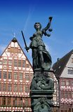 Statue of Lady Justice. In Frankfurt Stock Images
