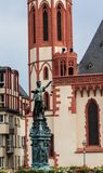 Statue of Lady Justice in Frankfurt Stock Image