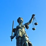 Statue of Lady Justice in front Royalty Free Stock Photography