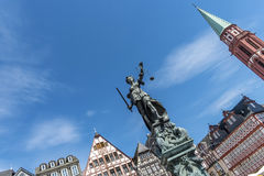 Statue of Lady Justice, Justitia in Frankfurt Royalty Free Stock Image