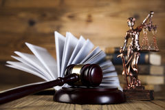 Statue of lady justice, Law concept stock photos