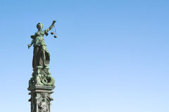 Statue of Lady Justice with scales Stock Photography