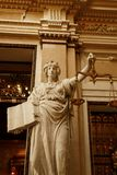 Statue of Lady Justice. With scales inTown Hall, Hamburg, Germany stock photo