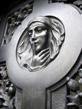 Recoleta cemetery, Buenos Aires, Argentina. Statue of a Lady with tears on her eyes, Recoleta cemetery, Buenos Aires, Argentina Stock Images
