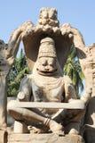 Statue of Lakshmi Narasimha at Hampi on India Royalty Free Stock Photography