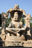 Statue of Lakshmi Narasimha at Hampi on India Stock Photo