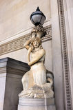 Statue and lamp, St. George's Hall Stock Photography