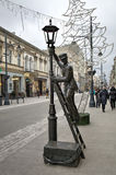 Statue of Lamplighter. Stock Photography