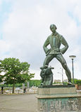 The statue of  Lange Wapper Stock Images