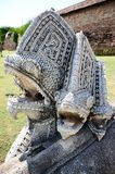 The statue of Lanna style fish in Phra That Lampang Luang Temple, Lampang province Stock Photography