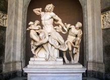 Statue of Laocoon and his Sons, Vatican Museum. The statue of Laocoon and His Sons also called the Laocoon Group, is a monumental sculpture in marble now in the Royalty Free Stock Images